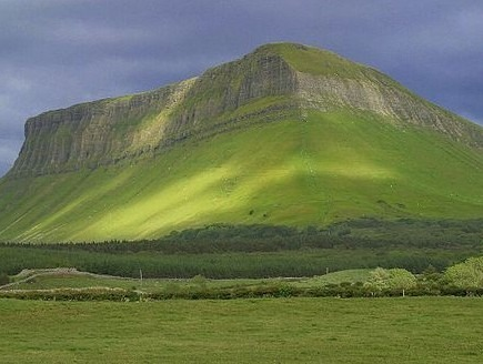Benbulbin Mountain, in County Sligo, Ireland