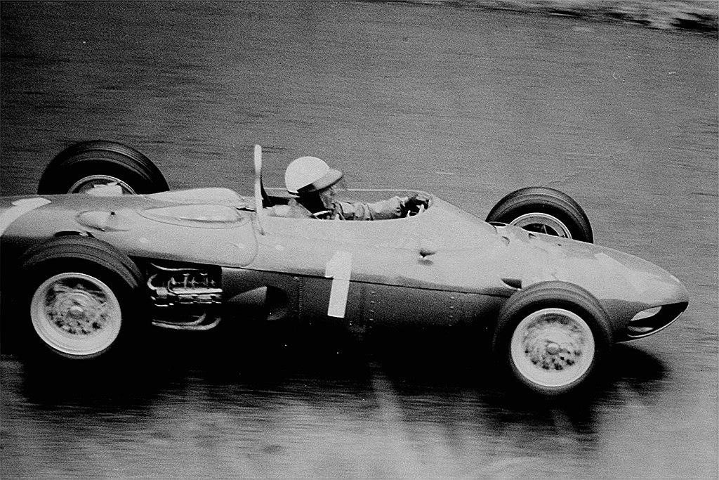 Phil Hill driving for Ferrari at the 1962 German Grand Prix